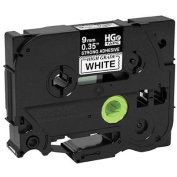for Brother Mobile Solutions HGE2215PK Black Ink on White Tape