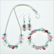 My Favourite Beads 135372 Wild at Heart Red and Pink - 3 Piece Set