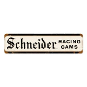 Past Time Signs SCH004 Racing Cams Automotive Vintage Metal Sign