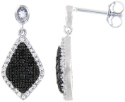 Doma Jewellery MAS00579 Sterling Silver Earrings with Black & White Cubic Zirconia