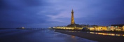 Panoramic Images PPI60099L Buildings lit up at dusk Blackpool Tower Blackpool Lancashire England Poster Print by Panoramic Images - 36 x 12