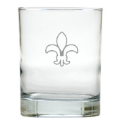 Carved Solutions Old Fashion Glass Set Of 6-Fleur-De-Lys