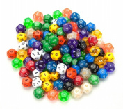 Bry Belly GDIC-1006 100 plus Pack of Random D12 Polyhedral Dice in Multiple Colour