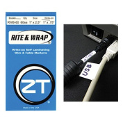 ZipTape 113 0908 Self Lam Wire Markers 60 Markers 2.5cm . X2.13cm .