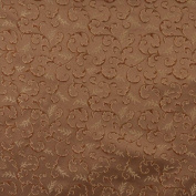 Designer Fabrics E641 140cm . Wide Abstract Floral Green Brown And Gold Damask Upholstery And Window Treatment Fabric