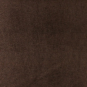 Designer Fabrics G358 140cm . Wide Chocolate Brown Metallic Leather Grain Upholstery Faux Leather