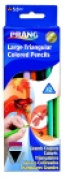 Prang Large Non-Toxic Pre-Sharpened Triangular Coloured Pencils - Assorted Colours Pack 12