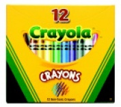 . Non-Toxic Crayon In Tuck Box - 0.8cm x 9.2cm . - Pack 12