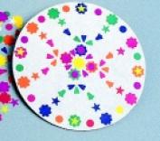 Rock-Tenn Paper Pizza Round Design Circle - 25cm x 0.5cm . - Pack 100