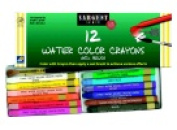Sargent Art 0.8cm x 9.2cm . Non-Toxic Water Soluble Watercolour Crayon Set 12