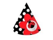 Creative Converting 205019 Ladybug Fancy - Paper Party Hats Child Size - Case of 48