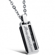 ES Jewel GX464B Stainless Steel Harmonica Necklace
