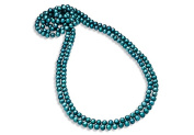 Fine Jewellery Vault UBNKBK7044FWT Strand Necklace of 8.5MM Teal Blue Freshwater Cultured Pearl 80 in. Length