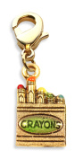 Whimsical Gifts 1752G Crayons Charm Dangle in Gold