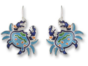 Zarah 01-09-Z1 Calypso Crab Silver Plate Earrings