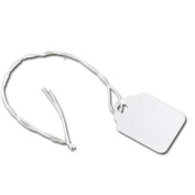 Deluxe Small Business Sales 10-207-9 White Merchandise Tag With White String 1.9cm x 2.9cm .