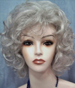 SALLY Curly Page Wig by Mona Lisa - 51 Grey with 25% Brown