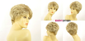 WIG UNIVERS Val 15t613 Short, Curly, Highlighted Woman's Wig In Very Light Blonde