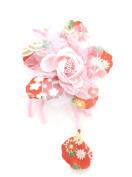 mykimono Women's Japanese Kimono Hair Accessorie Flower(Red) h040