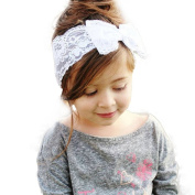 FEITONG(TM) Fashion Lovely Sweet Girls Lace Big Bow Hair Band Baby Head Wrap Headband Accessories