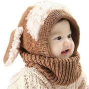 FEITONG(TM) Lovely Winter Baby Kids Girls Boys Warm Woollen Coif Hood Scarf Caps Hats