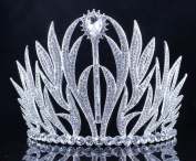 Janefashions Sexy Floral Austrian Crystal Rhinestone Tiara Hair Comb Crown Prom Silver T11979
