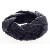 FuzzyGreen® Fashion Crochet Knitted Headwrap Headband Hair Band(Grey)+Gift