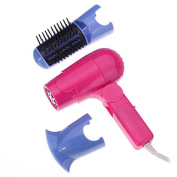 Mini Handy Hair Dryer Comb Curly Hair Styling Tool by 24/7 store