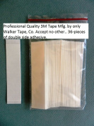 3M 1522 Double Sided Clear Straight Tape 1.3cm x 7.6cm for Wig Toupee Hairpiece 36 PCS