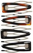 Vidal Sassoon Hair Accessories Large Clix Contour Clips, 4 ct