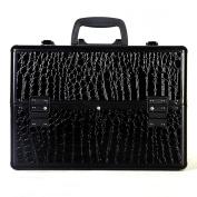 Super buy 36cm Pro Aluminium Makeup Train Case Jewellery Box Cosmetic Organiser Black Croc