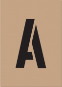 Hy-ko ST-2 5.1cm . Reusable Carded Number & amp; Letter Stencil - Pack of 6