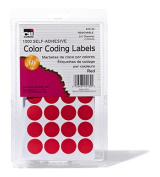 Charles Leonard CHL45130 Colour Coding Labels Red