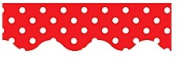 TEACHER CREATED RESOURCES TCR4665 RED MINI POLKA DOTS BORDER TRIM