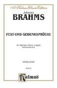 Alfred 00-K09722 Brahms Fest-Und Gedenk. Vs Book
