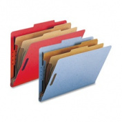 Nature Saver NATSP17226 Classification Folders- w- Fstnrs- 2 Dvdrs- Legal- GN