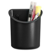 Lorell LLR80668 Recycled Plastic Mounting Pencil Cup Black