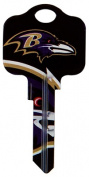 Kaba KCKW1-NFL-RAVENS 10cm x 0.6cm . NFL Ravens Team Key Blank For Kwikset Locksets Pack Of 5