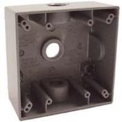Bell Weatherproof 5333-0 2 - Gang Weatherproof 3 Outlet Box Grey