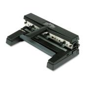 Swingline 74450 40-Sheet Heavy-Duty Two- to Four-Hole Adjustable Punch 9/32 Holes Black