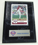 Sports Images MLB Philadelphia Phillies Cole Hamels Card Plaque