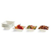 Rosseto Serving Solutions CP003 11cm . Square Porcelain Bowl 6 Piece Set