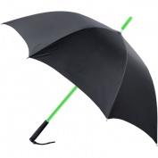 RainWorthy Black 120cm LED Shaft Umbrella