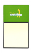 Carolines Treasures SB3093SN Id rather be Golfing Woman on Green Refiillable Sticky Note Holder or Postit Note Dispenser 7.6cm x 7.6cm .