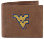 ZeppelinProducts WVU-IWE1-CRZH-LBR West Virginia Passcase Embroidered Leather Wallet