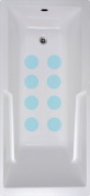 VersaTraction NSM-CIR4BLU 10cm . x 10cm . Circle Mat in Blue - Pack of 8