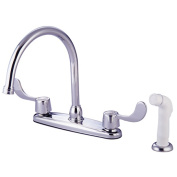 Kingston Brass KB782 20cm . Kitchen Faucet With Blade Handles