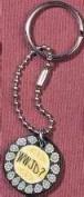 Solid Rock Jewellery 764028 Key Chain Yellow Fimo Disc Wwjd