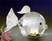 Asfour Crystal 950-17 1.25 L x 0.9 H in. Crystal Fish Sea Figurines