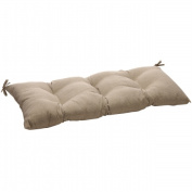 Pillow Perfect 449852 Monti Taupe Wrought Iron Loveseat Cushion
